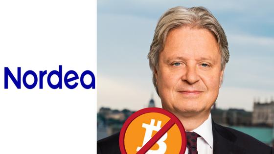 Nordea bannar Bitcoin